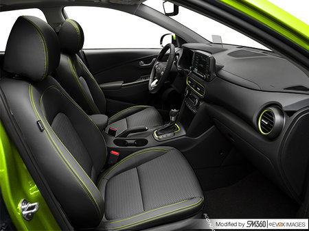 Hyundai Kona ULTIMATE Noir avec garnitures lime 2019 - photo 2