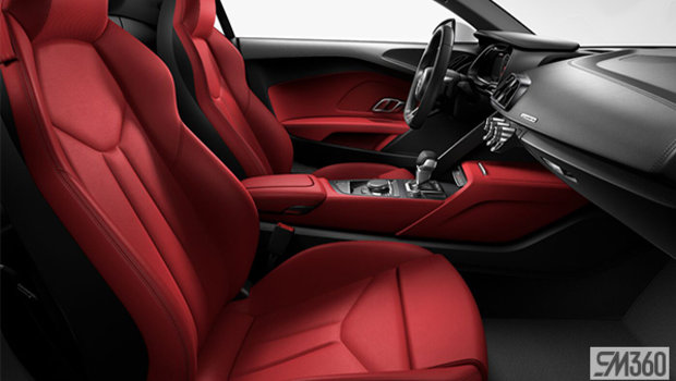 Express Red Nappa Leather Sport Seats/Steel Gray Stitching