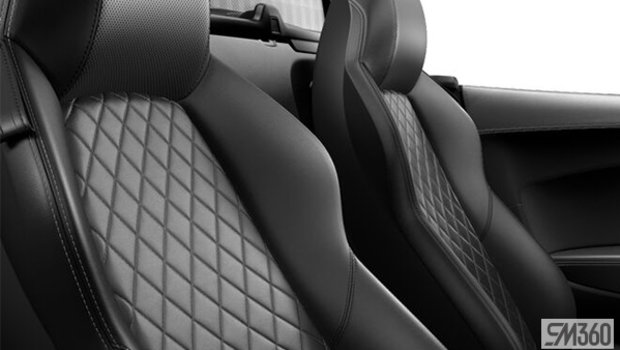 Black/Rock Grey Contrast Stitching Nappa Leather Sport Seats