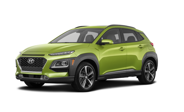 Hyundai Kona ULTIMATE Noir avec garnitures lime 2019
