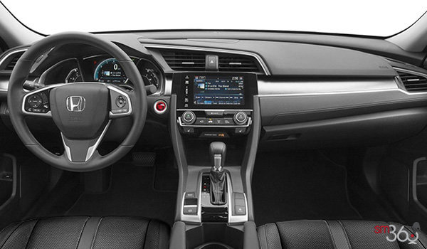 2017 Honda Civic Sedan TOURING | Photo 3 | Black Leather