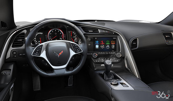 2018 Chevrolet Corvette Coupe Grand Sport 2LT | Photo 2 | Jet Black Competition Sport buckets Leather seating surfaces with sueded microfiber inserts (194-AE4)