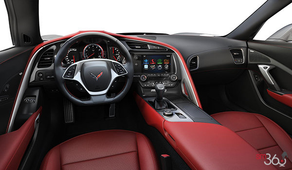 2018 Chevrolet Corvette Coupe Grand Sport 3LT | Photo 3 | Adrenaline Red Competition Sport buckets Perforated Mulan leather seating surfaces (705-AE4)