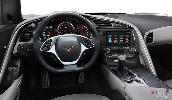 2018 Chevrolet Corvette Coupe Grand Sport 3LT | Photo 2 | Grey Competition Sport buckets Leather seating surfaces with sueded microfiber inserts (146-AE4)