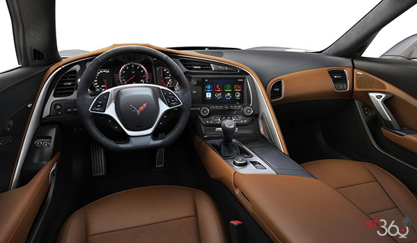 2018 Chevrolet Corvette Coupe Grand Sport 3LT | Photo 3 | Kalahari Competition Sport buckets Leather seating surfaces with sueded microfiber inserts (346-AE4)