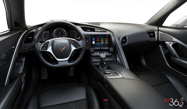 2018 Chevrolet Corvette Coupe Grand Sport 3LT | Photo 3 | Jet Black GT buckets Leather seating surfaces with sueded microfiber inserts (198-AQ9)
