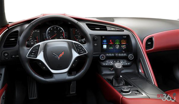 2018 Chevrolet Corvette Coupe Grand Sport 3LT | Photo 2 | Adrenaline Red GT buckets Leather seating surfaces with sueded microfiber inserts (706-AQ9)