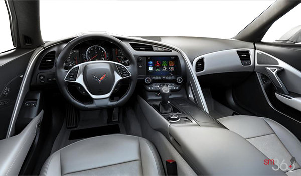 2018 Chevrolet Corvette Coupe Stingray Z51 3LT | Photo 2 | Grey GT buckets Leather seating surfaces with sueded microfiber inserts (146-AQ9)