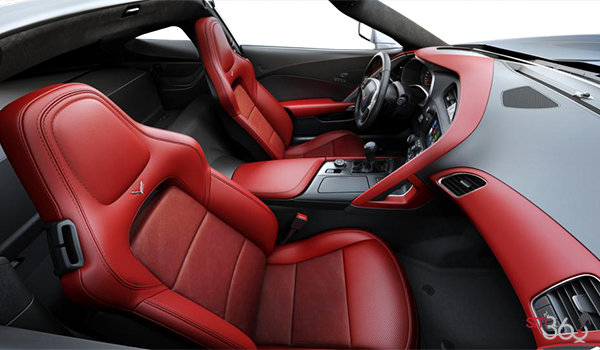 2018 Chevrolet Corvette Coupe Stingray Z51 3LT | Photo 1 | Adrenaline Red GT buckets Leather seating surfaces with sueded microfiber inserts (706-AQ9)