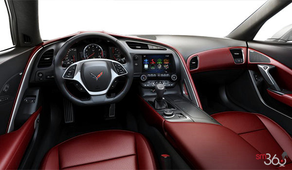 2018 Chevrolet Corvette Coupe Stingray Z51 3LT | Photo 2 | Spice Red GT buckets Perforated Napa leather seating surfaces (755-AQ9)