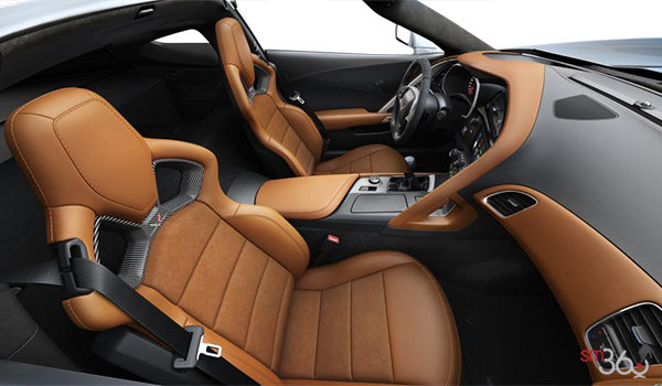 2018 Chevrolet Corvette Coupe Stingray Z51 3LT | Photo 1 | Kalahari Competition Sport buckets Leather seating surfaces with sueded microfiber inserts (346-AE4)