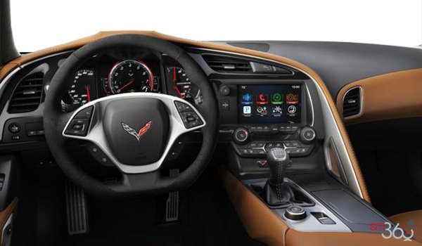 2018 Chevrolet Corvette Coupe Stingray Z51 3LT | Photo 3 | Kalahari Competition Sport buckets Leather seating surfaces with sueded microfiber inserts (346-AE4)