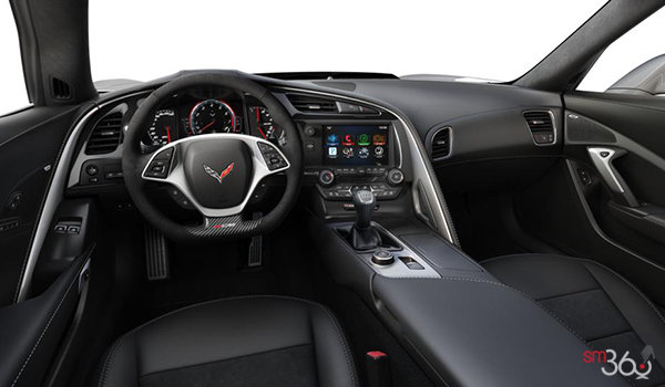 2018 Chevrolet Corvette Coupe Z06 3LZ | Photo 3 | Jet Black Competition Sport buckets Leather seating surfaces with sueded microfiber inserts (196-AE4)