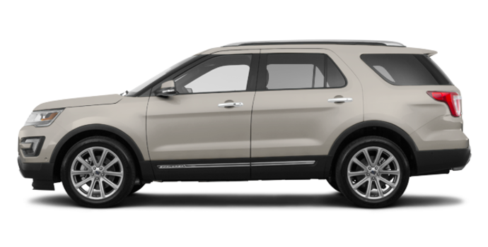 2017 Ford Explorer LIMITED | Photo 4 | White Gold