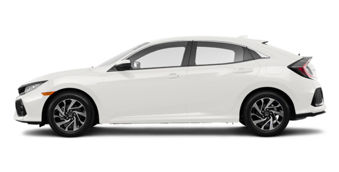 2017 Honda Civic Hatchback LX | Photo 4 | White Orchid Pearl