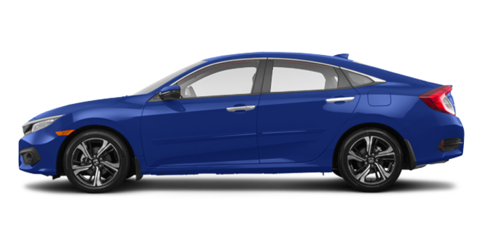 2017 Honda Civic Sedan TOURING | Photo 4 | Aegean Blue Metallic