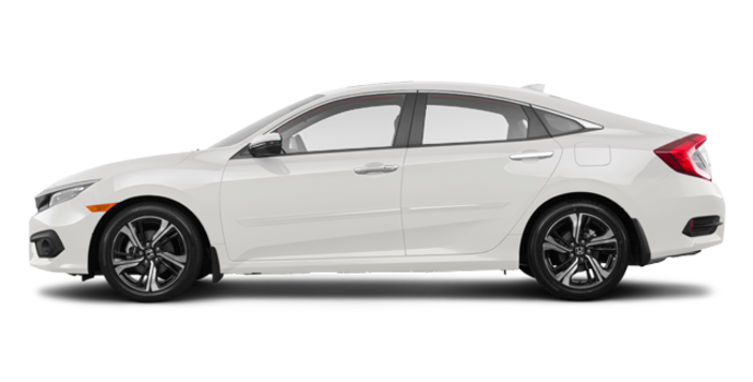 2017 Honda Civic Sedan TOURING | Photo 4 | White Orchid Pearl