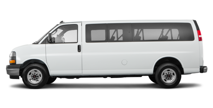 2018 GMC Savana 3500 PASSENGER LT | Photo 4 | Summit White