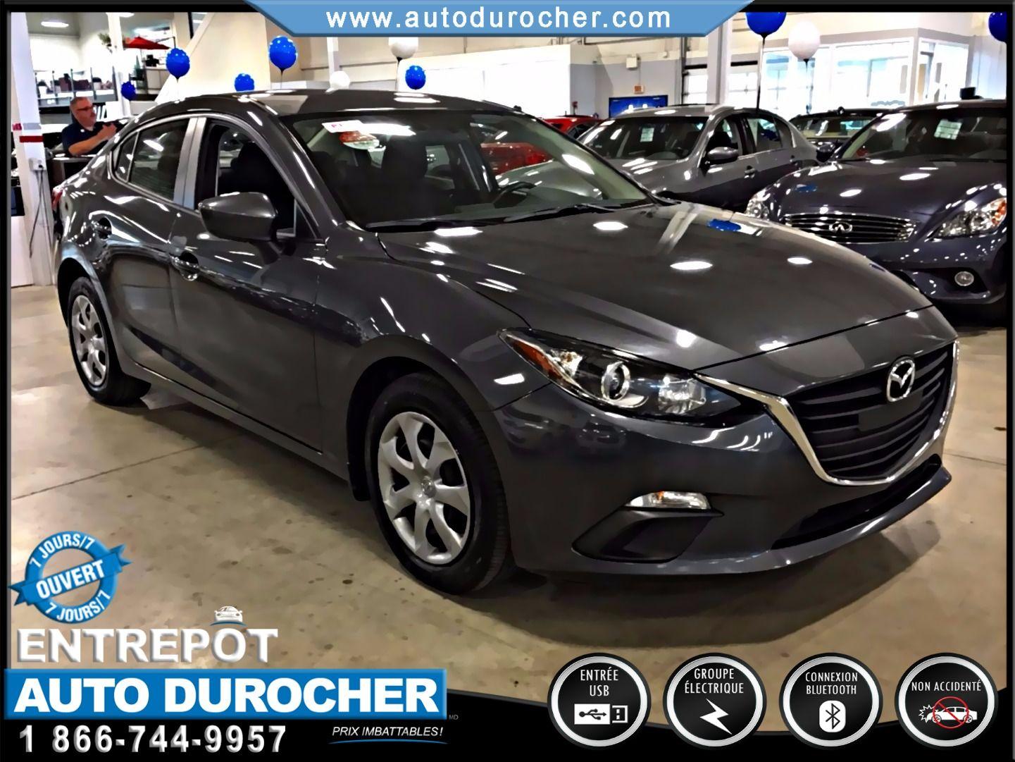 Mazda Mazda3 GR. ÉLECTRIQUES NOUVEAU MODÈLE BLUETOOTH 2014
