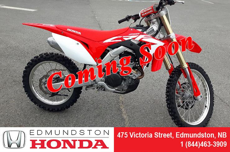 2018 Honda Crf250r Used For Sale In Edmundston Edmundston Honda