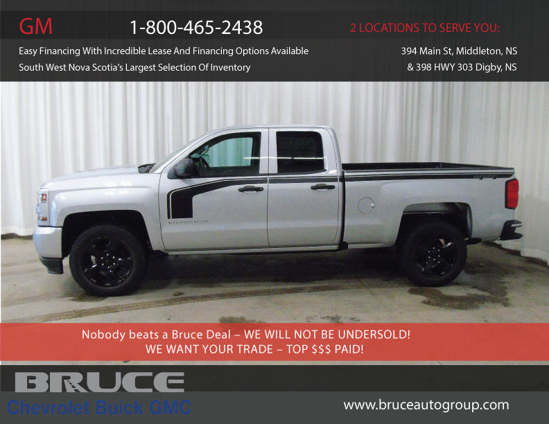 new 2016 chevrolet silverado 1500 custom 5 3l 8 cyl automatic 4x4 extended cab in digby 0. Black Bedroom Furniture Sets. Home Design Ideas