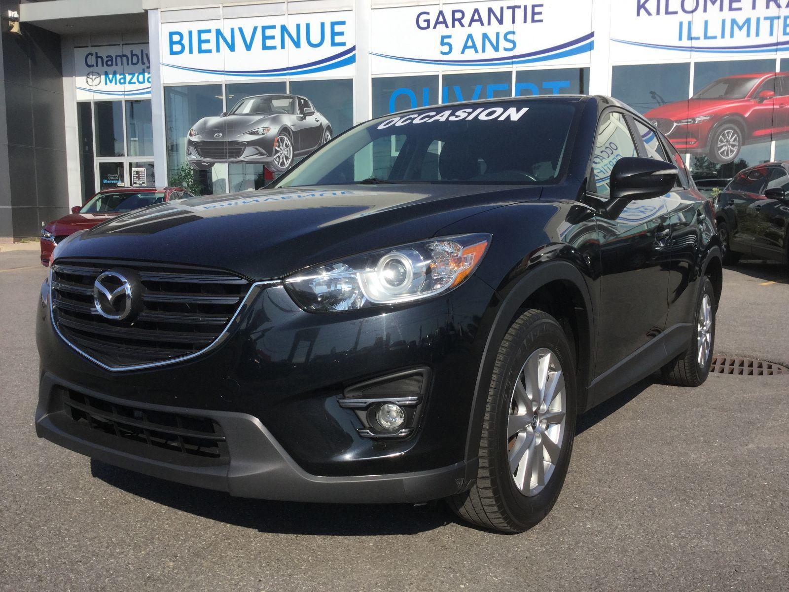 Mazda CX-5 GS, AWD, CUIR, TOIT, SIEGES CHAUFFANTS, BLUETOOTH 2016 JAMAIS ACCIDENTÉ, UN SEUL PROPRIÉTAIRE