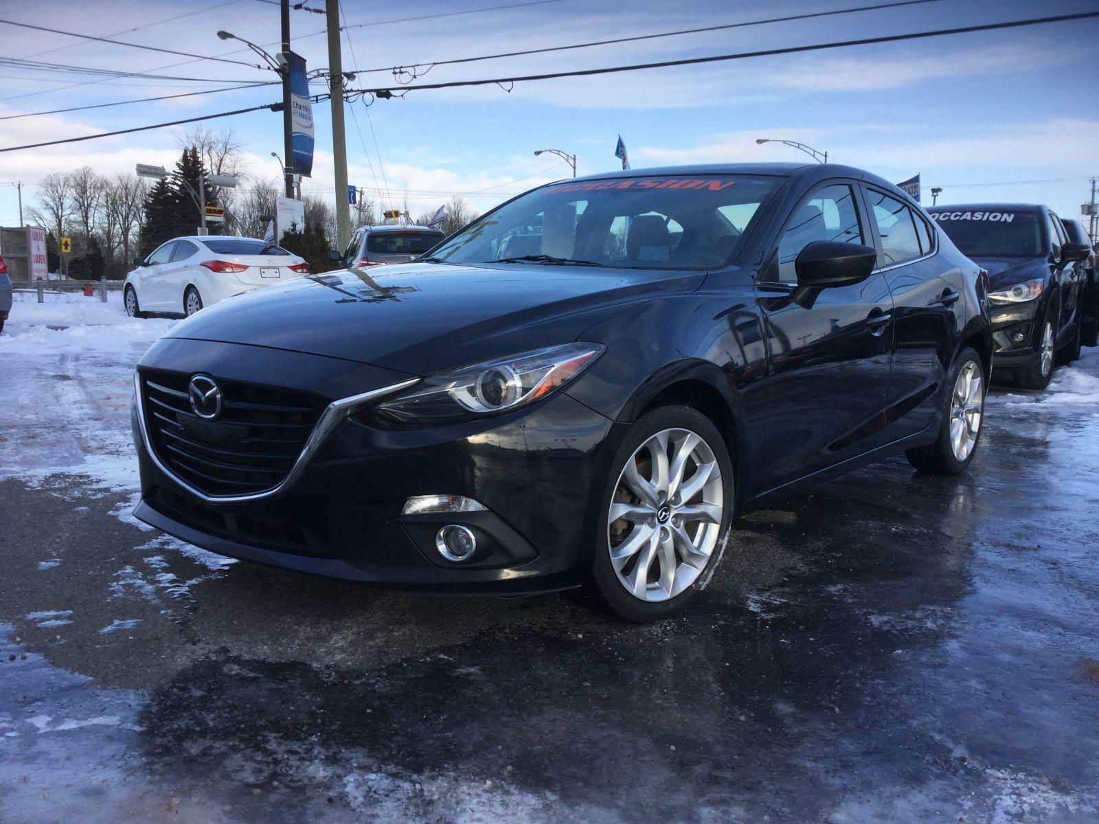 Mazda Mazda3 **RÉSERVÉ**, GT-SKY, NAVIGATION, TOIT, A/C BIZONE 2014 JAMAIS ACCIDENTÉ, UN SEUL PROPRIÉTAIRE