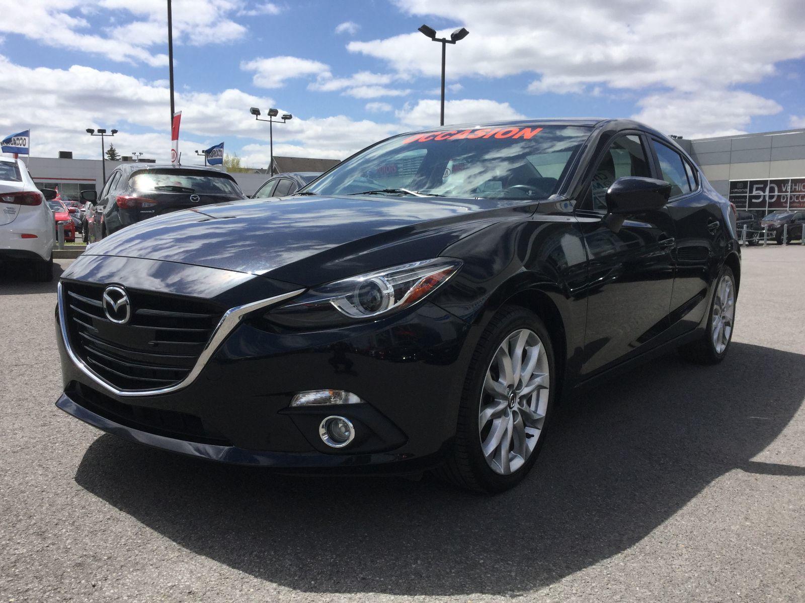 Mazda Mazda3 ***RÉSERVÉ***GT, SYSTEME BOSE, NAVIGATEUR 2015 SIÈGES CHAUFFANTS, PHARES BI-ZENON