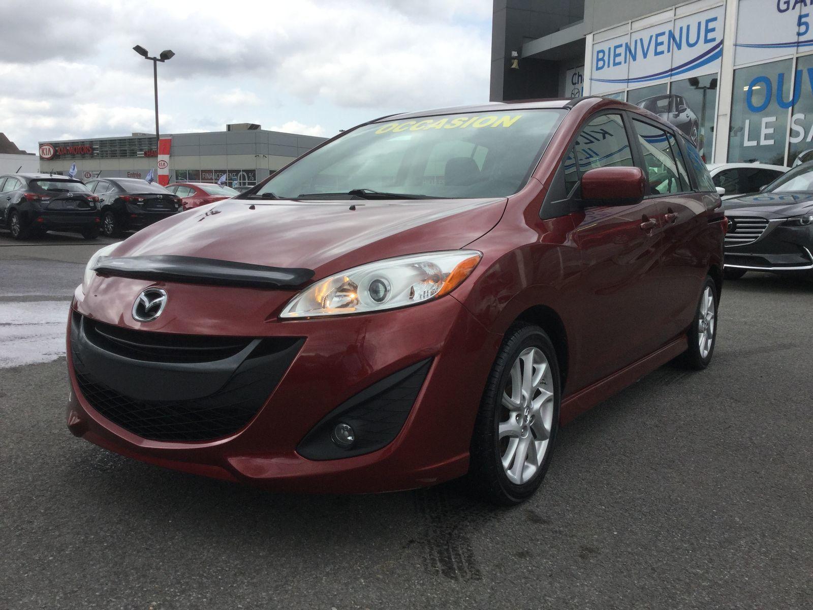 Mazda Mazda5 ***RÉSERVÉ***GT, MAGS, A/C AUTO, SIEGES CHAUFFANTS 2012 RÉGULATEUR DE VITESSE, GROUPE ÉLECTRIQUE
