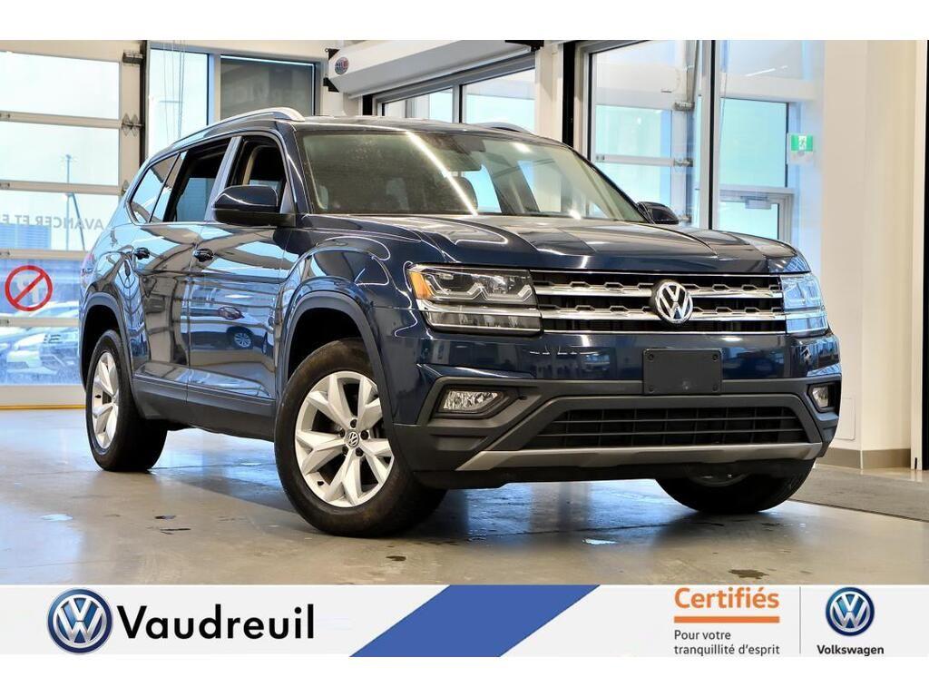 Used 2018 Volkswagen Atlas Comfortline 3 6 Fsi Reserve Blue 99 310 Km For Sale 26988 0 Vaudreuil Volkswagen 19992a Uaf