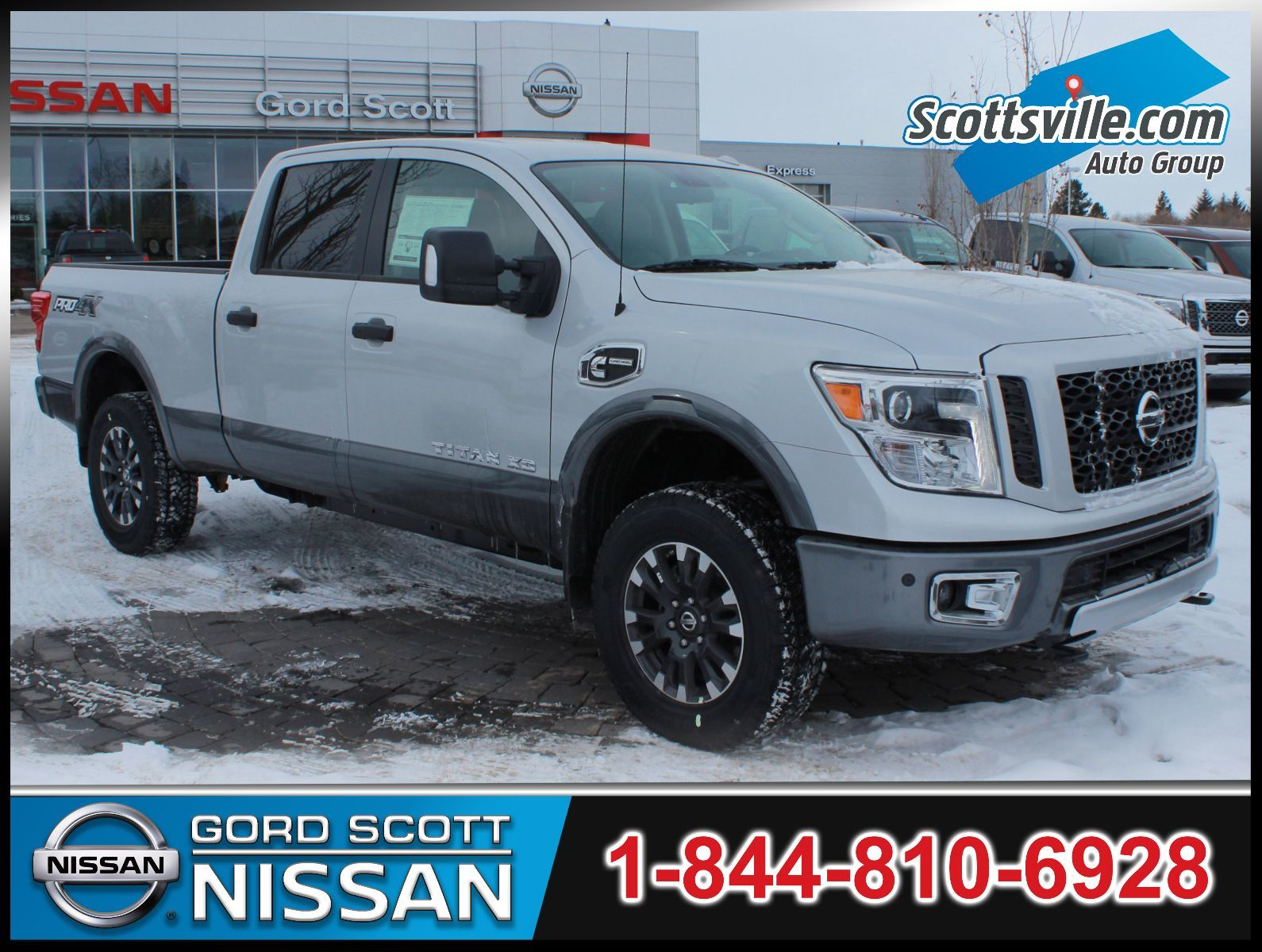new 2017 nissan titan xd diesel pro 4x w two tone paint for sale in red deer gord scott nissan. Black Bedroom Furniture Sets. Home Design Ideas
