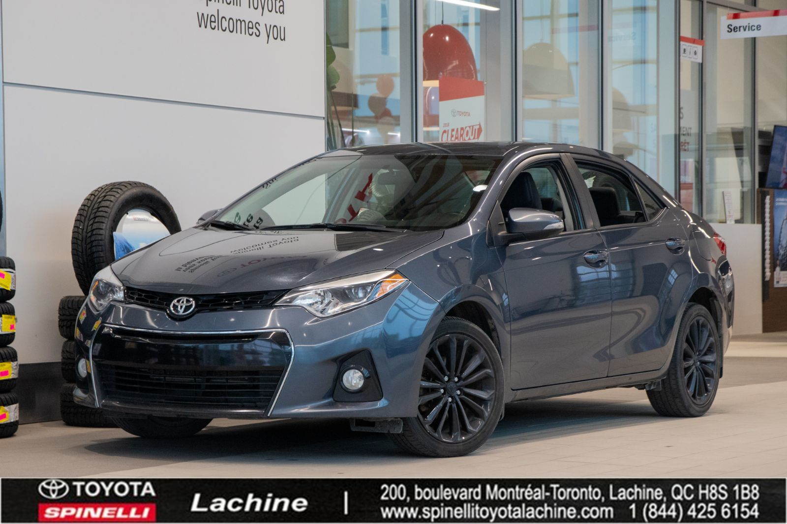 used 2015 toyota corolla s for sale in montreal 19t0103a spinelli toyota lachine. Black Bedroom Furniture Sets. Home Design Ideas