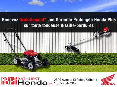 Garantie prolongée Honda Plus GRATUIT
