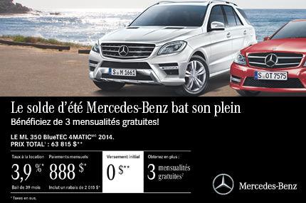 Classe ML350 de Mercedes-Benz à compter de 888$ par mois