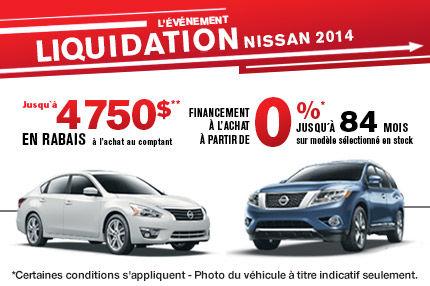 L'événement liquidation 2014 des Nissan!