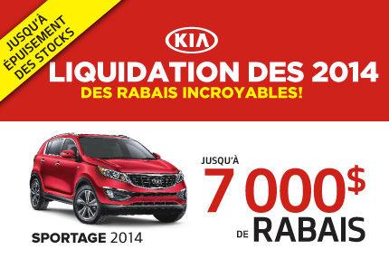 Le Kia Sportage 2014 en rabais de 7000$