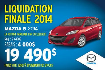 La Mazda5 2014 en liquidation à seulement 19 490$