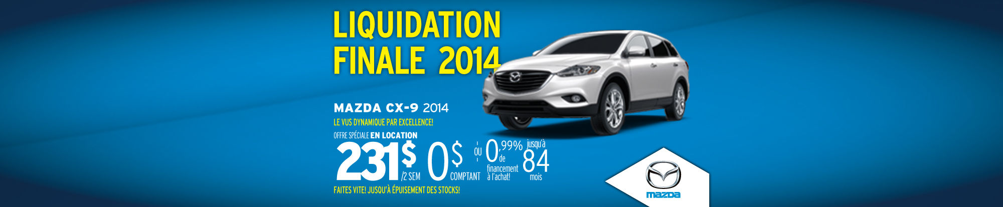Mazda CX-9 liquidation