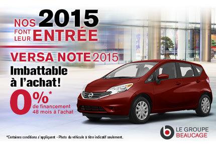 Nissa Versa Note 2015 à l'achat à 0%