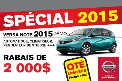 Spécial Nissan Versa Note 2015 DÉMO