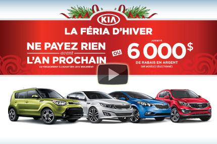 C'est la Féria d'hiver chez Kia : Jusqu'à 6000$ d'économies