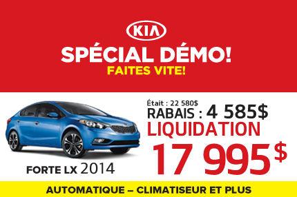 Liquidation de Kia: Forte 2014 à 17 995$
