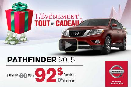 Nissan Pathfinder 2015 en location: 92$ par semaine