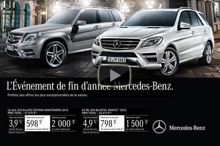 Plusieurs nouvelles Mercedes-Benz avec des offres exceptionnelles