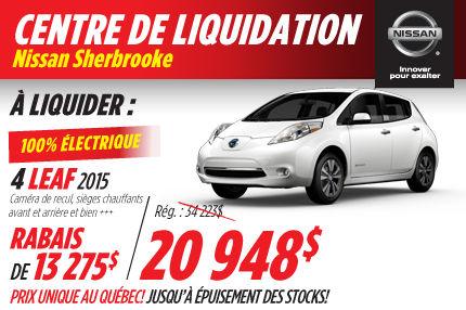 Nissan Leaf 2015: à vous pour 20 948$