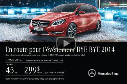 Classe B 2014 de Mercedes à 299$ par mois