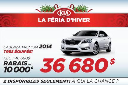 Liquidation des Kia Cadenza 2014 avec 10 000$ de rabais
