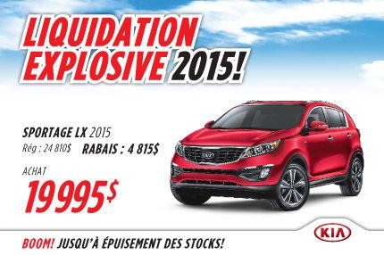 Le Kia Sportage LX 2015 à compter de seulement  19 995$