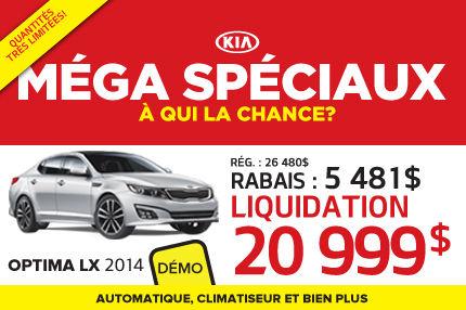 Méga Spéciaux de Kia: Optima LX 2014 à 20 999$