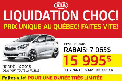 Le Kia Rondo LX 2015 à 15 995$